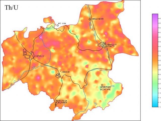 Mapy pomerov rádioaktívnych prvkov